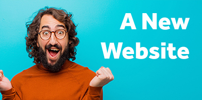 man excited about new website