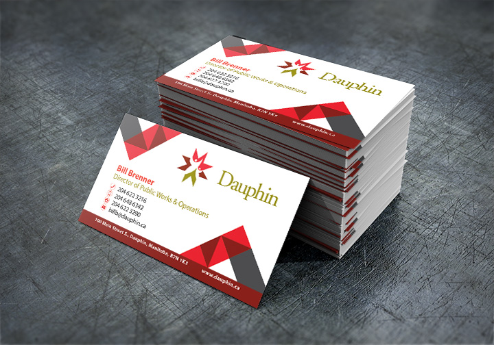 city-of-dauphin-business-cards