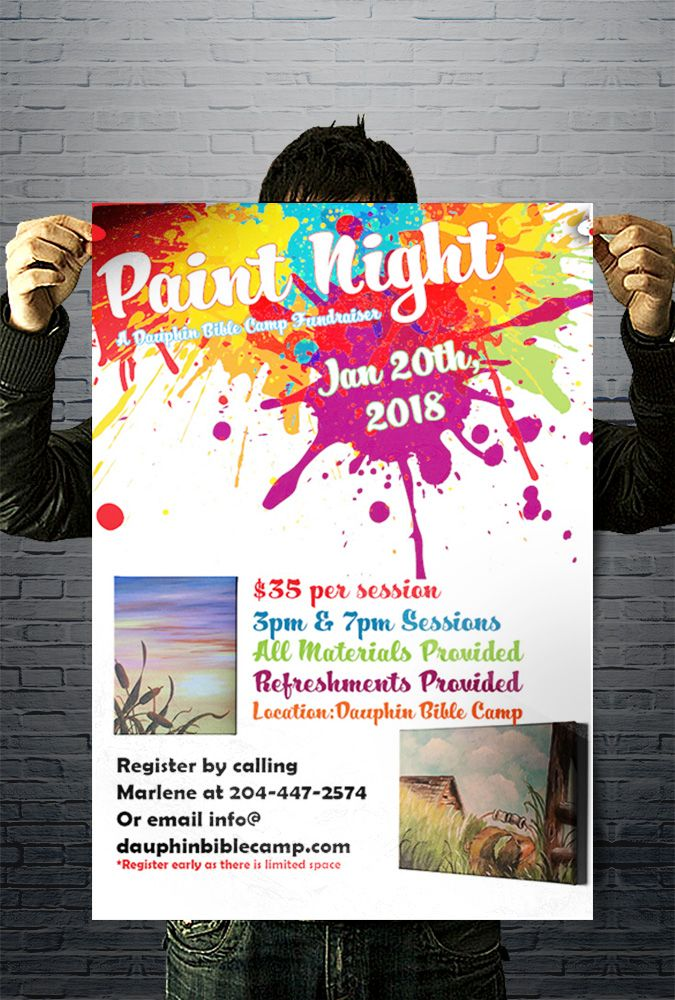 dauphin bible camp paint night poster